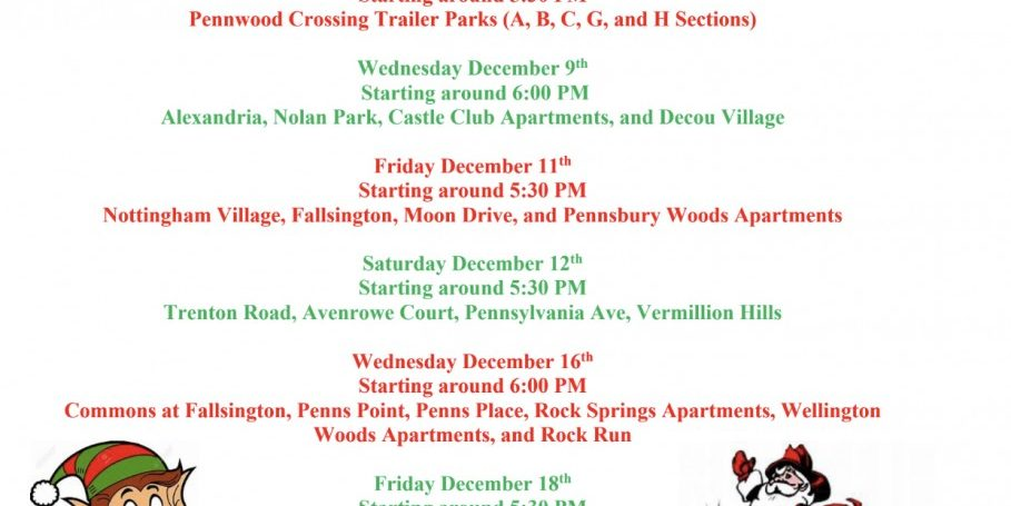 Santa is Coming to Falls Township